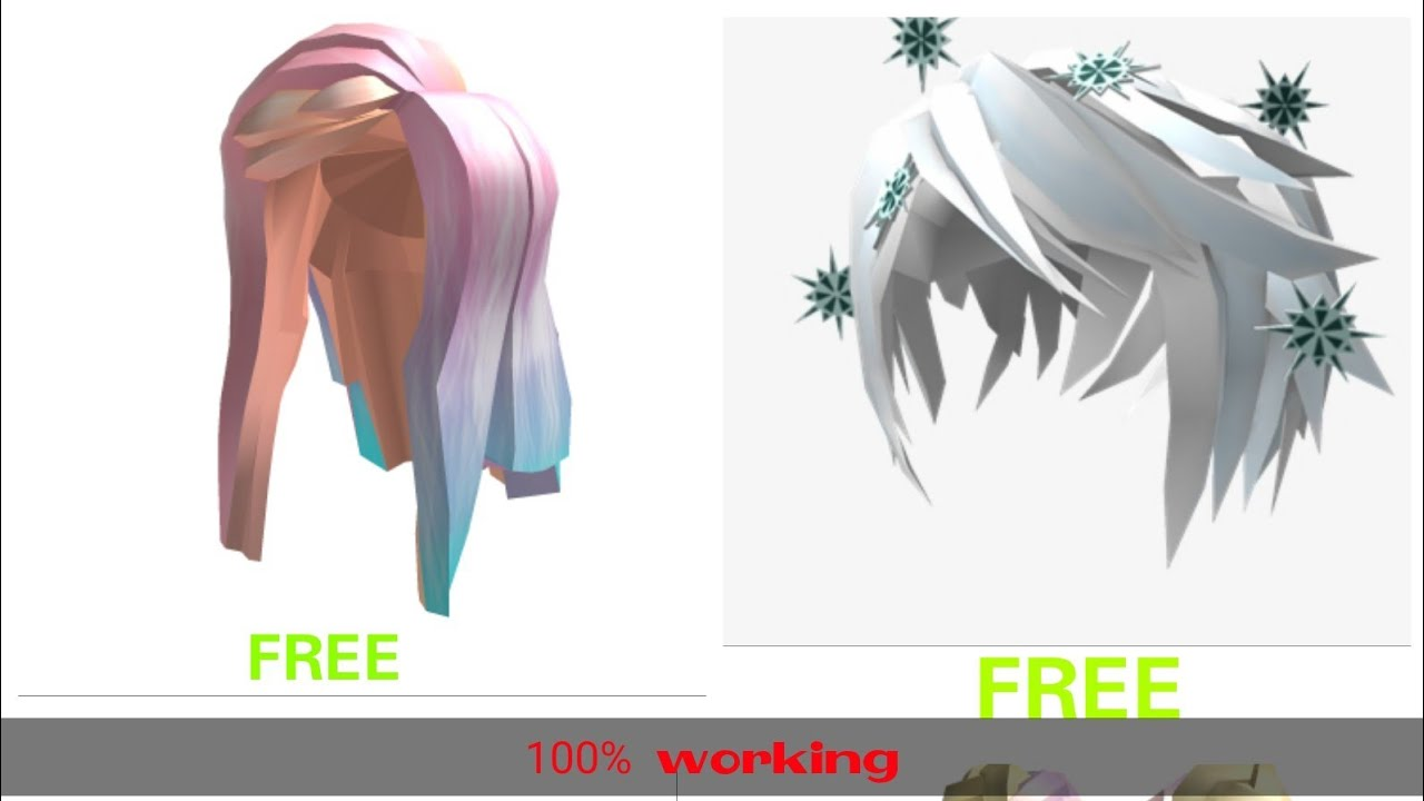 How To Get Any Hair In Roblox For Free 2020 Cool Prank Youtube