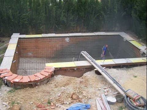 Como hacer una piscina con bloques de hormigon youtube for Construir piscina concreto