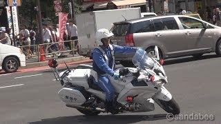 ド迫力!警視庁新型白バイ ヤマハFJR1300P。New white police motorcycle
