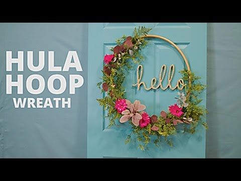Diy Floral Hula Hoop Wreath Hgtv Youtube