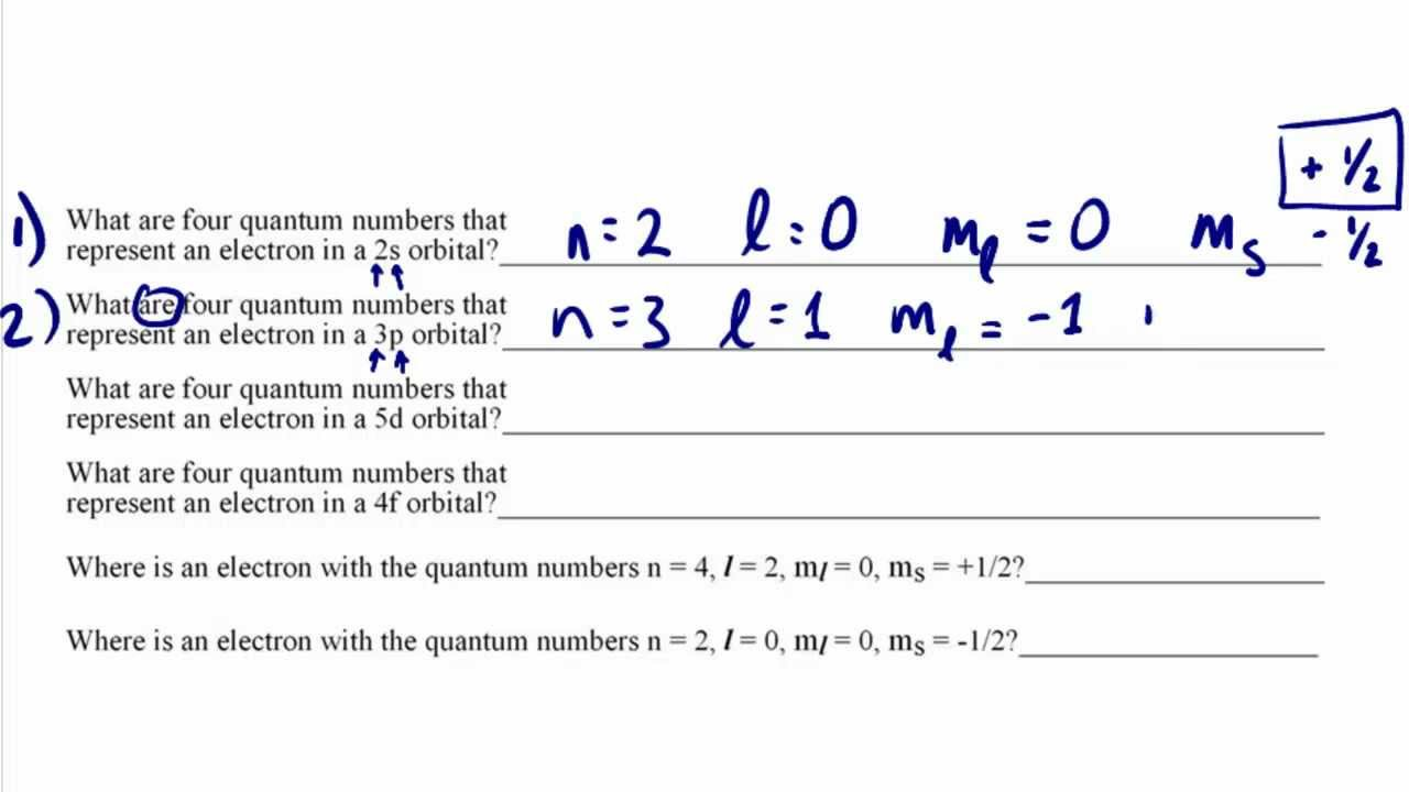 quantum numbers tutorial part ii practice problems explained crash chemistry academy youtube. Black Bedroom Furniture Sets. Home Design Ideas