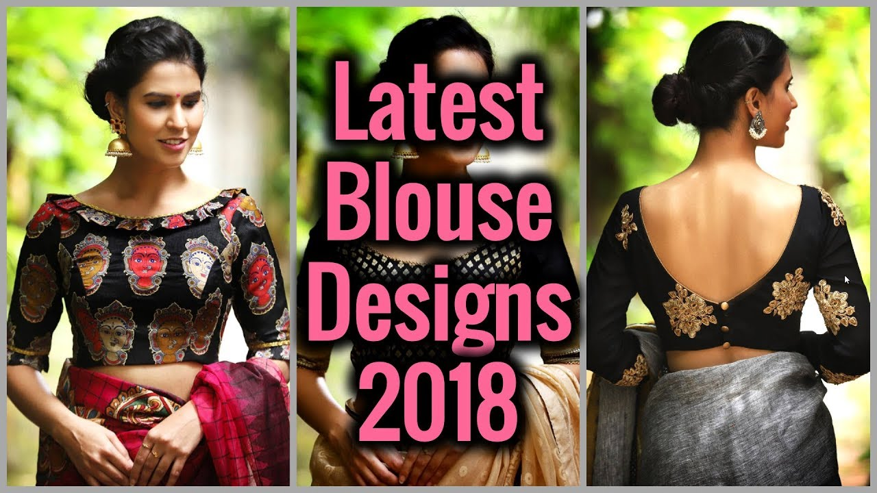 Fancy Blouse Designs 2018 New Blouse Back Boat Neck Designs