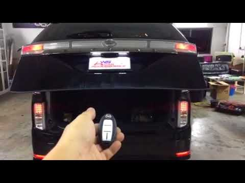 Nissan Elgrand👉2014 Installed Electronic Tailgate Lift,Vaccum Lock