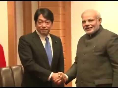 PM Modi meets Minister of Defense, Itsunori Onodera, in Tokyo