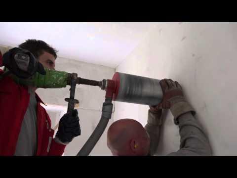 Kernbohrung für einen Küchendunstabzug mit 150 mm