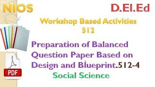 SOCIAL SCIENCE Questions Paper with Blueprint (workshop based activities 512)