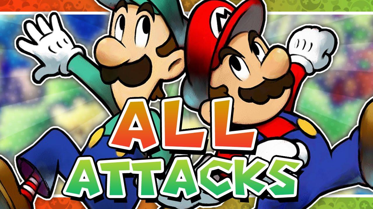 Mario Luigi Superstar Saga All Mario Luigi Bros Attacks
