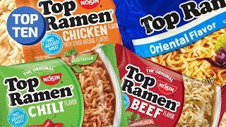 10 Nissin Top Ramen Flavors Ranked | Top Ten Daily