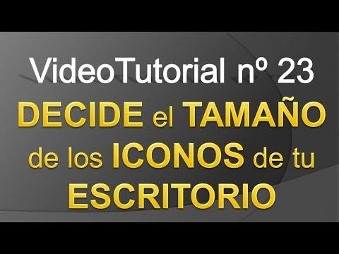 TPI - Videotutorial nº23 - Cómo Cambiar el TAMAÑO de los ICONOS del ESCRITORIO