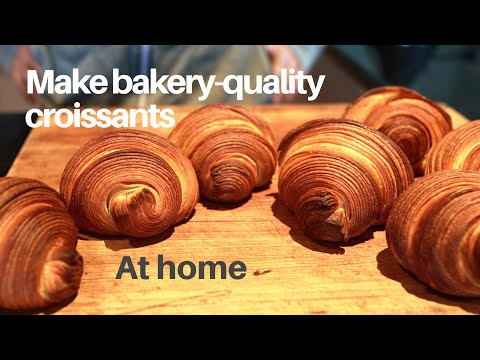 Make bakery-quality croissants at home using plain flour