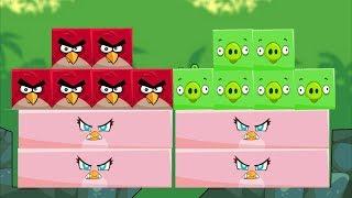 Angry Birds Kick Piggies - TEAM RED BIRDS VS GREEN PIGGIES KICK STELLA!