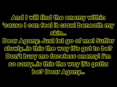 "Breaking Benjamin - ""Dear Agony"" lyrics"