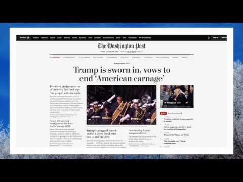 Washington Post   45th Presidential Inauguration parade West Monroe to end