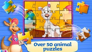 """Kids Puzzles Animals """"TabTale Education Games"""" Android Apps Game Video"""