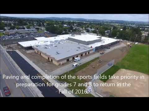 Evergreen Middle School  Construction Start to Finish  September 2017