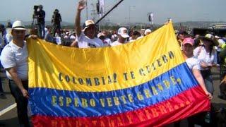 A Cucuta, foule pour le concert