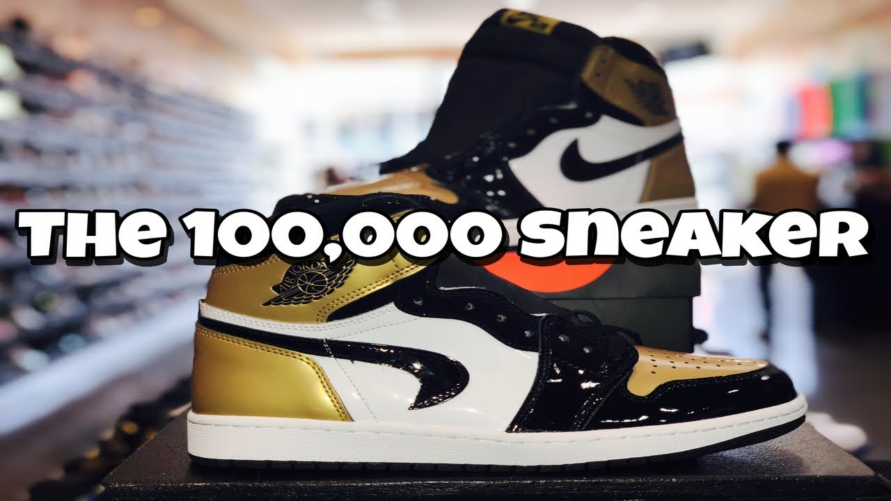 3b69a3e1d471 Upside Down Swoosh Gold Toe 1s Selling for 100k - YouTube