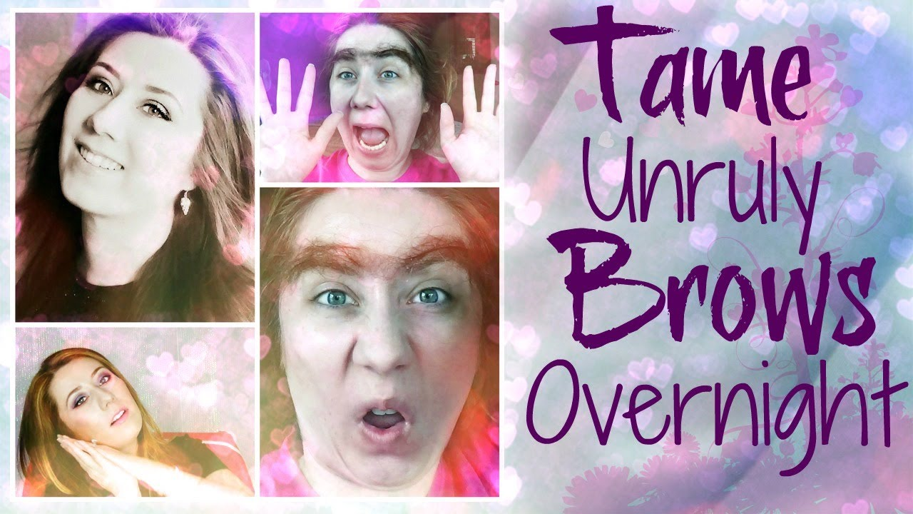 How To Tame Unruly Brows While You Sleep Youtube