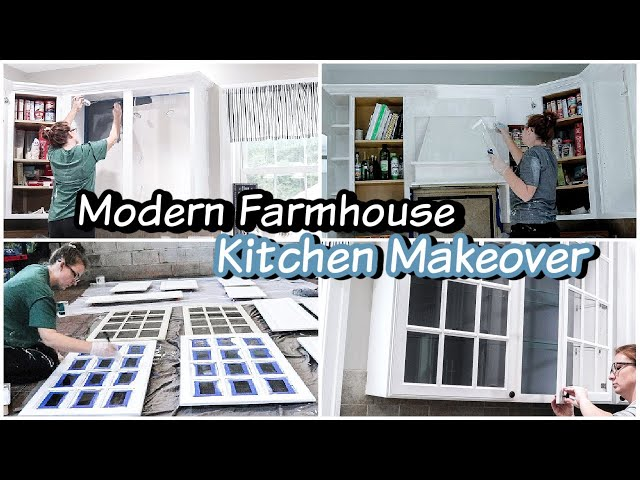 New House Updates! DIY Farmhouse Kitchen Transformation Makeover on a Budget Painting Cabinets