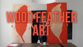 Wood Feather Art Diy