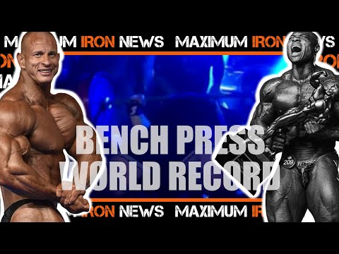 1,110 lbs Bench World Record   New Bodybuilding Pro   Arnold Classic Europe 2020