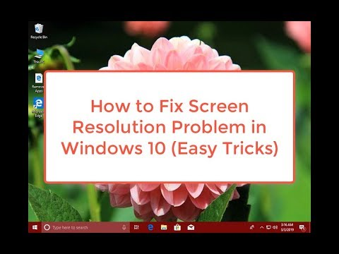 how to fix resolution on windows 10