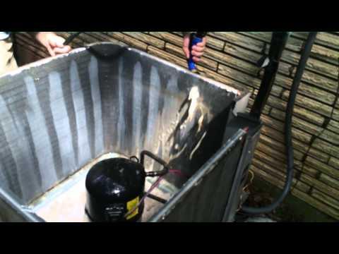 HVAC Service- Cleaning a Condenser Coil