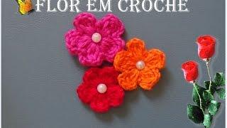 Flor em Crochê Para aplique Simples e Fácil 🌺