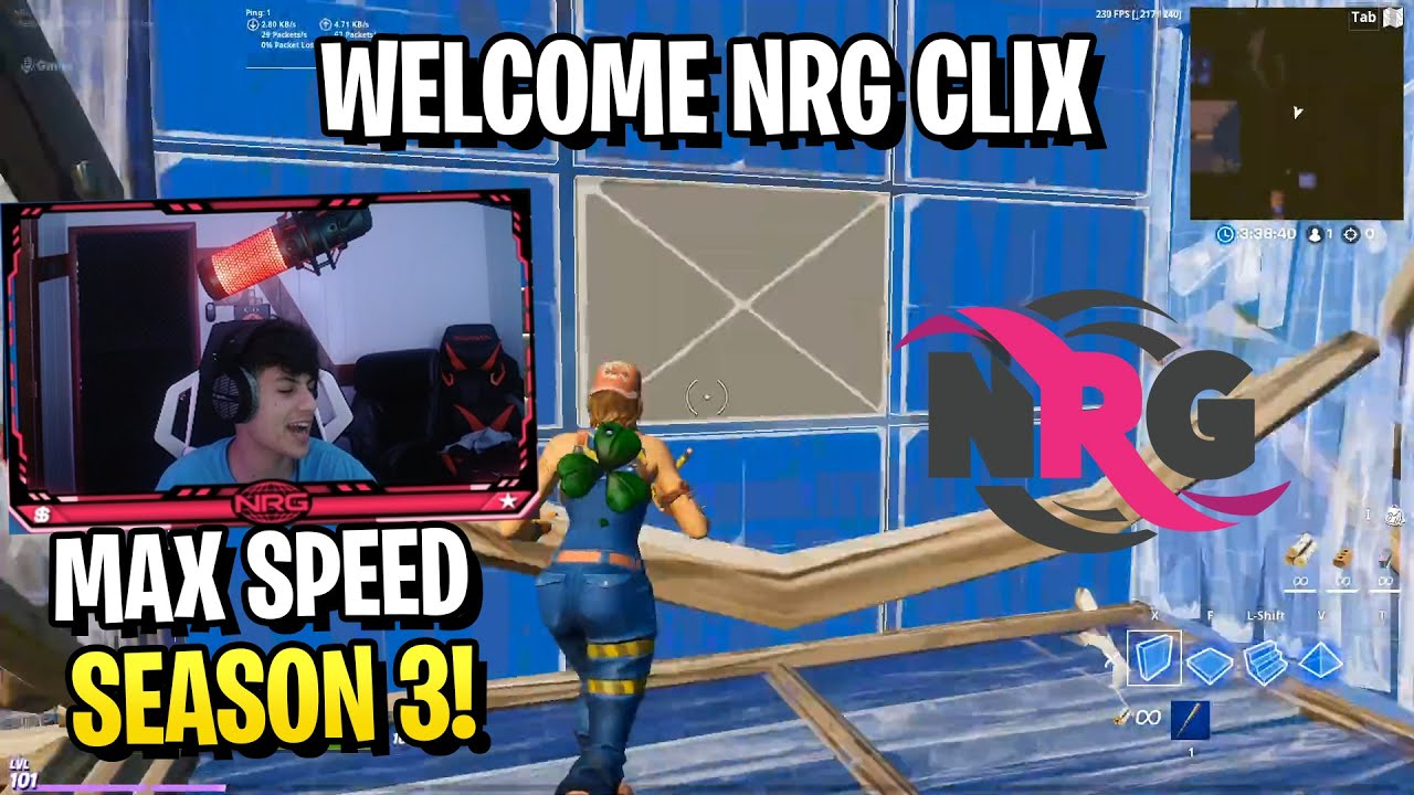 Clix Shows Why He Joined NRG Esports & MAXIMUM EDITING SPEED in Season 3!