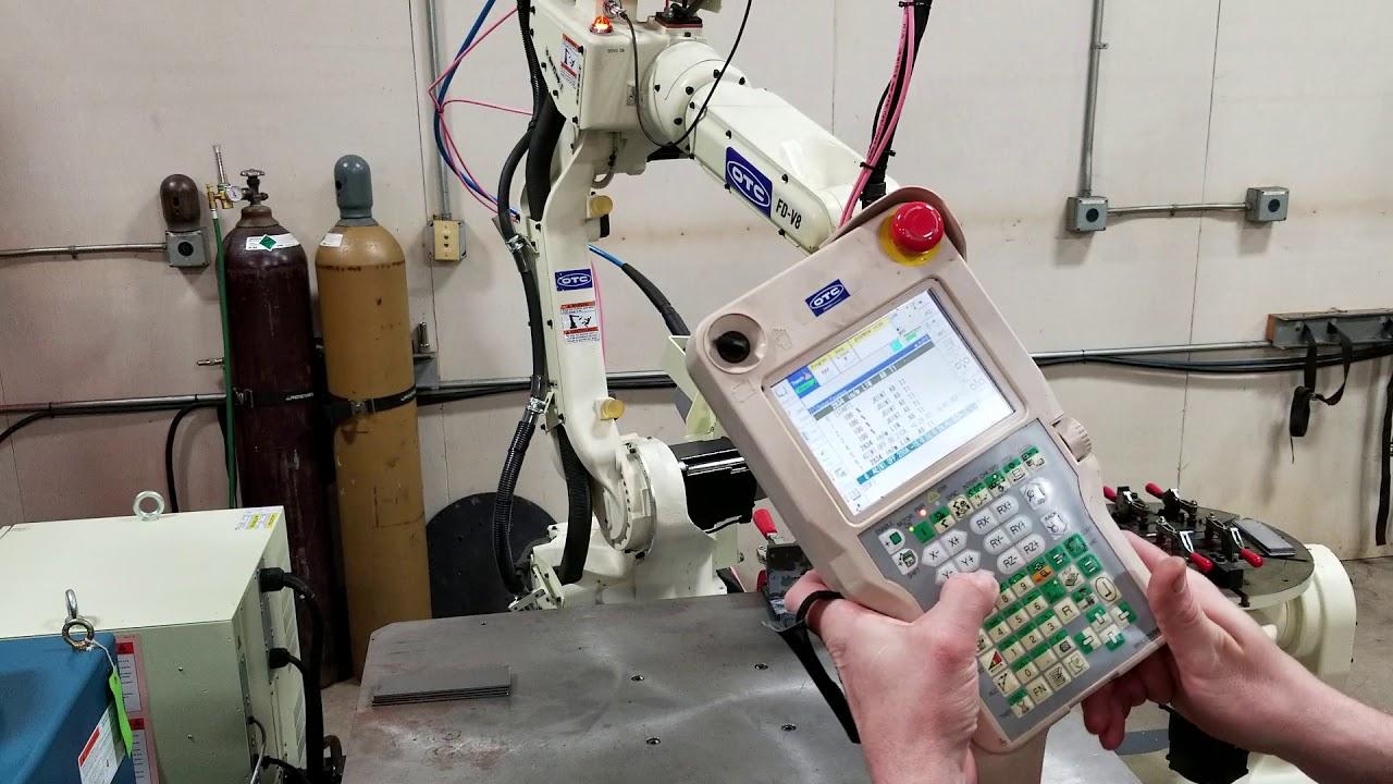 Otc Daihen Fd Robot Programming Demonstration Youtube