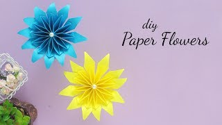 DIY Paper Flower |  Easy Paper Flowers | Paper Crafts