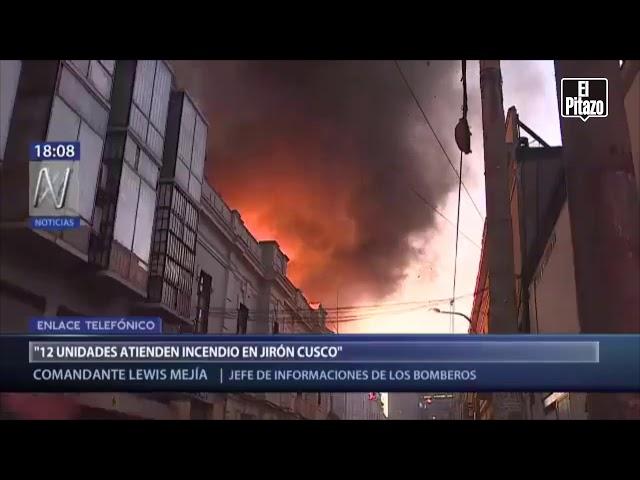 Se desata gran incendio en zona de Lima donde murieron 300 personas en 2001
