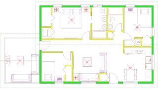 Affordable 3 Bedroom 2 Bathroom Small House Floorplan Design