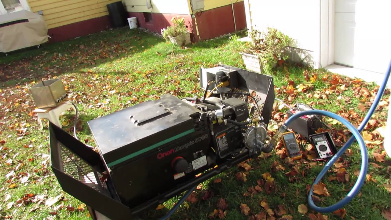 onan Marquis generator 5000 watt model BGM on propane by Bill Rae