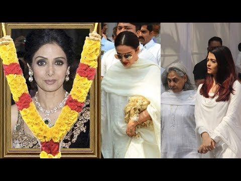 Sridevi Last Rites: Aishwarya Rai Bachchan, Rekha And Other Breaks Down At Death In Dubai