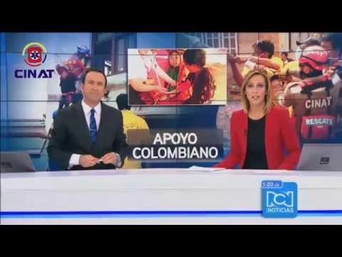 Grupo de Rescatistas  Colombianos CINAT en NEPAL - Durante Nuevo sismo