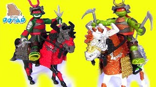 #Черепашки Ниндзя Мультик TMNT Samurai Игрушки Новинки #Распаковка в Потапе