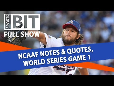 NCAAF Notes & Quotes, World Series Game 1 | Sports BIT | Tuesday, Oct. 23
