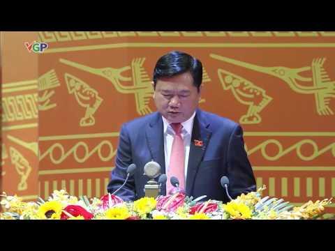 Đ/C Đinh La Thăng, Bộ trưởng Bộ Giao thông Vận tải phát biểu tham luận về các văn kiện Đại hội XII