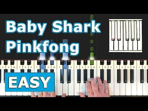 Baby Shark Song - Piano Tutorial EASY - Pinkfong - Sheet Music (Synthesia) thumbnail