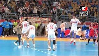 احتفال هستيري للاعبي الزمالك بعد الفوز على الأهلي في كأس السوبر الإفريقي