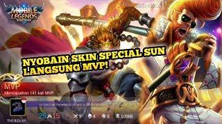 NYOBAIN SKIN SPECIAL SUN! LANGSUNG MVP BOSQU | Mobile Legend Indonesia