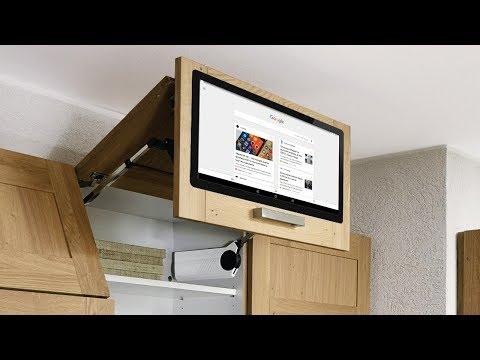"""Сенсорный Android TV 22"""" встроенный в фасад кухни - встроенный телевизор для кухни"""