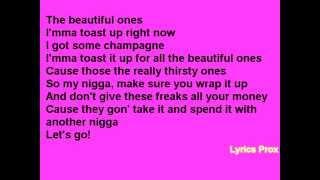 Juicy J - Beautiful Ones ( Lyrics On Screen) Full