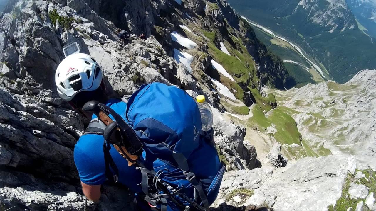 Klettersteig Mittenwald : Mittenwalder höhenweg klettersteig youtube