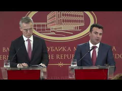 Joint press point - NATO Secretary General and Prime Minister, 18 JAN 2018