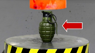 EXPERIMENT Glowing 1000 degree HYDRAULIC PRESS 100 TON vs BOMB (Lighter) thumbnail