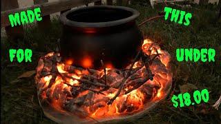 Great Stuff Foam / Halloween Fire Prop with Cauldron