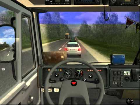 Рейс на новом Камазе (1)! Germat Truck Simulator.