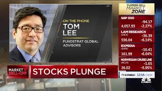 Tom Lee: 'It's scary, but I would be a buyer today'